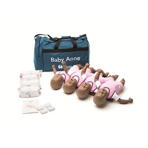 Laerdal Dark Skin Baby Anne (4 Pack) with Soft Pack