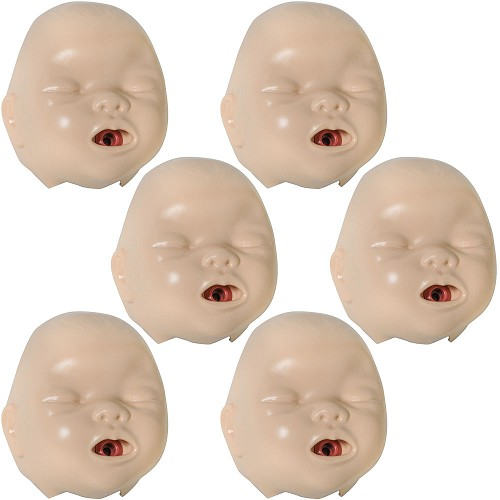 Laerdal Resusci Baby Face Pieces (6 pack)