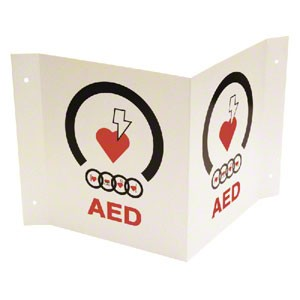 3D Tent-Shaped AED Wall Sign by JL Industries