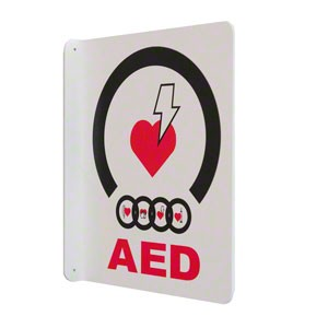 90º AED Wall Sign by JL Industries