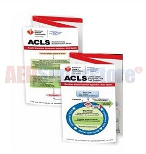 AHA 2015 ACLS Pocket Reference Card Set
