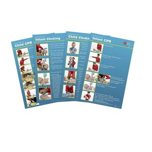 AHA 2015 Heartsaver Child & Infant Poster 8 Pk
