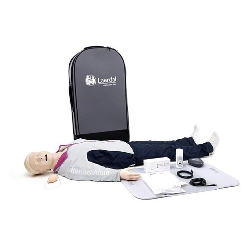 Laerdal Resusci Anne QCPR Full Body w/Airway Head w/Trolley Case - Rechargeable