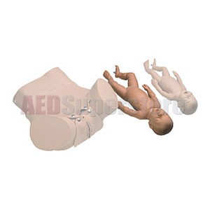 Simulaids Newborn Baby for Forceps/Vacuum Delivery OB Manikin Black