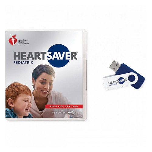 AHA 2020 Heartsaver Pediatric First Aid CPR AED Course Videos on USB Drive