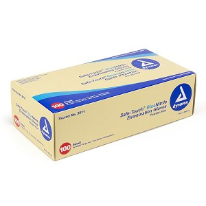 Disposable Nitrile Gloves 100/Box by Dynarex