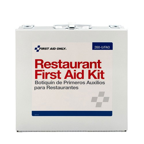 FAO Restaurant First Aid Kit - 27+ Unit, 203 Piece Kit, w/Metal Case