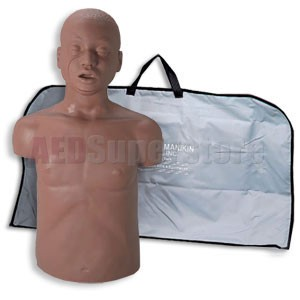 Simulaids David African-American CPR Adult Manikin w/Carry Bag