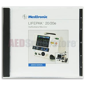 Physio-Control LIFEPAK 20/20e Defibrillator/Monitor Service Manual on CD-ROM
