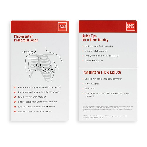LIFEPAK 12/15/20 ECG Pocket Card by Physio-Control