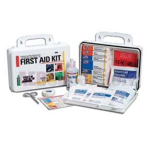 FAO Trucker's First Aid Kit - 16 Unit, 87 Piece Kit, Plastic Case w/Gasket