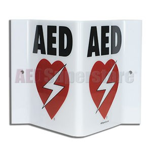 RespondER® Premium AED Projection Style Wall Sign