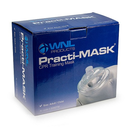 WNL Practi-MASK® Adult/Child CPR Training Mask 10-Pack by WNL Products