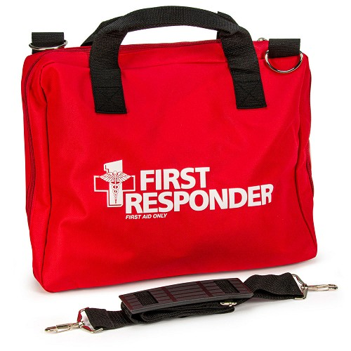 FAO Replacement Red Cordura Bag w/Handle & Shoulder Strap for First Responder Kit - 120 piece