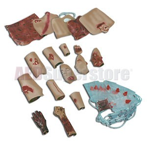 Simulaids Trauma Moulage Kit (African-American)
