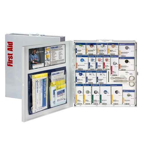 FAO SmartCompliance ANSI A+ Kit w/o Meds, Large Metal Cabinet