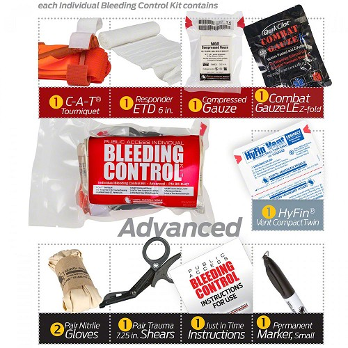 Public Access Bleeding Control Advanced Kit by North American Rescue