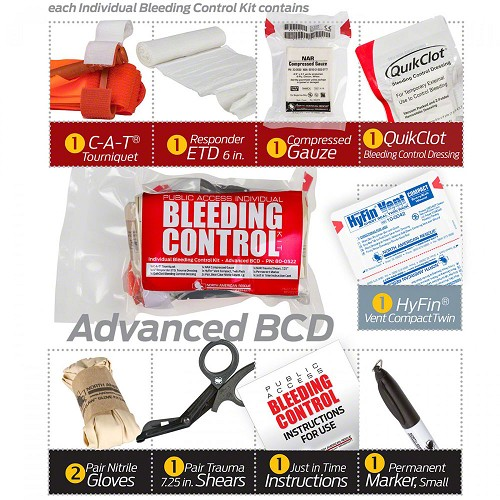 Public Access Bleeding Control Advanced BCD Kit by North American Rescue