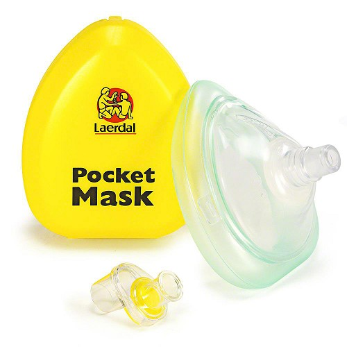 Laerdal Pocket Mask w/o Gloves and Wipe in Yellow Hard Case