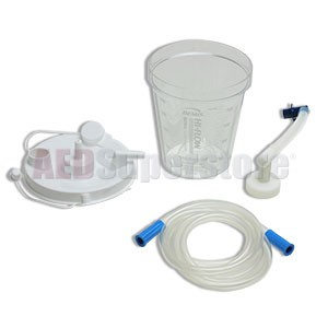 Laerdal 800ml Disposable Suction Canister w/Patient Tubing