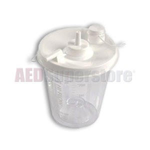 Laerdal 800ml Disposable Suction Canisters w/o Patient Tubing (6-Pack)