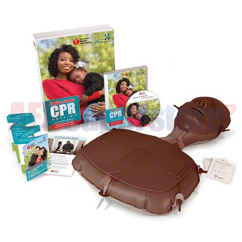 AHA 2010 Family & Friends CPR Anytime Kit, Dark Skin