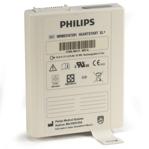 Battery Lithium Ion for Philips HeartStart XL+ Monitor/Defibrillators
