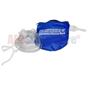 RespondER® CPR Mask in Soft Blue Bag