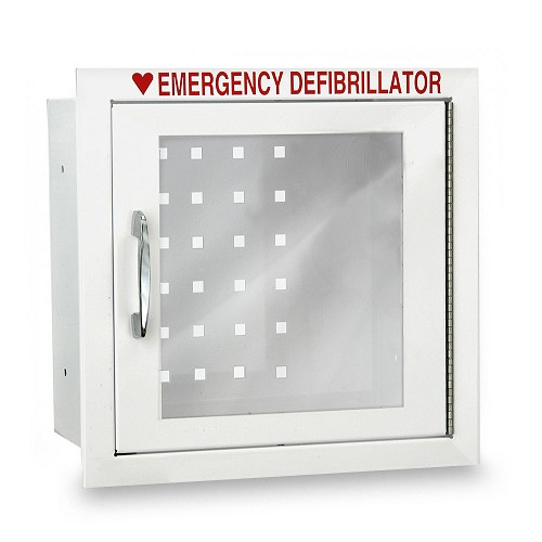 Compact Size AED Wall Cabinet with Advanced Alarm Options - Recessed Mount