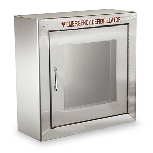 Standard Size Stainless Steel Aed Cabinet Aed Superstore