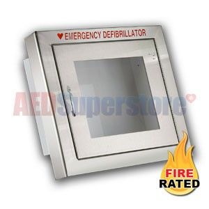Fire Rated Standard Size Stainless Steel AED Cabinet