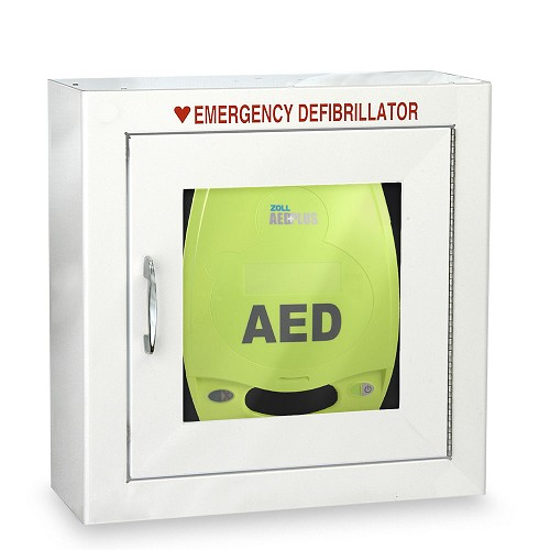 ZOLL® AED Plus® Standard Size Cabinet without Audible Alarm or Strobe Light