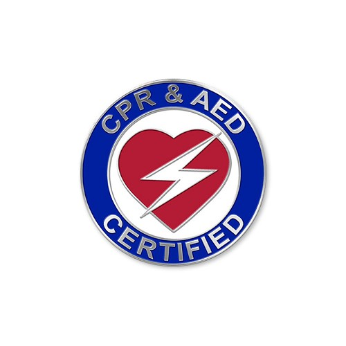 Heart CPR/AED Certification Pin - 1
