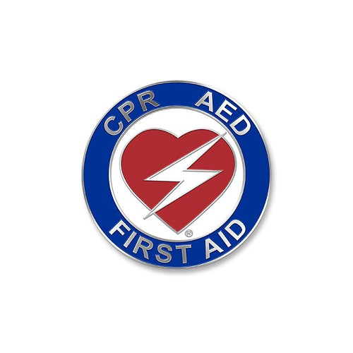 Heart CPR/AED/First Aid Certification Pin - 1