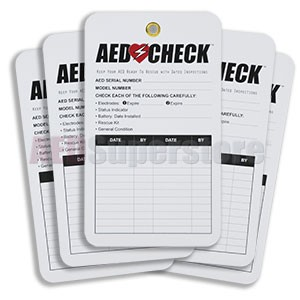AED CHECK Tag (5 pack) - Resale Version