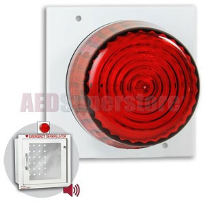 Strobe Light with Mounting Plate for Recessed AED Cabinets