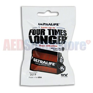 Defibtech Lifeline™ or Lifeline AUTO AED Lithium 9V Battery - (for self checks)
