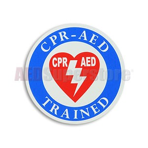 """CPR-AED Trained"" Decal by Defibtech"