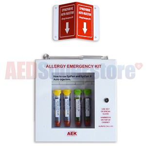 Original Allergy Emergency Kit™ Lunchroom/Corridor Cabinet