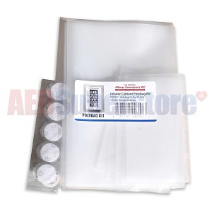 Allergy Emergency Kit™ Polybag Sleeve and Hook & Loop Fasteners for Inhalers