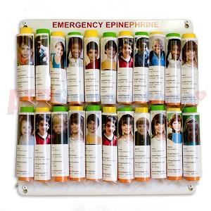Allergy Emergency Kit™ Epinephrine Auto-Injector Storage Panel for Nurse's Office