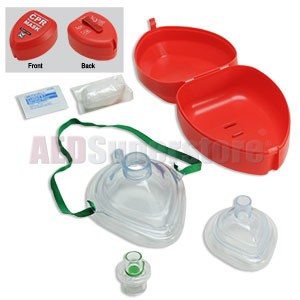 WNL Adult/Child & Infant CPR Masks in Hard Case w/Gloves & Wipe by WNL Safety Products