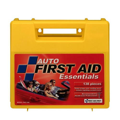 FAO Auto 137 Piece First Aid Kit, w/Large Plastic Case