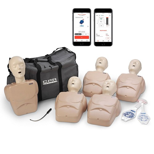 CPR Prompt® Plus Adult/Child 5-Pack TAN Powered by Heartisense®