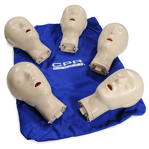 CPR Prompt® Extra Adult/Child Manikin Heads for BLUE
