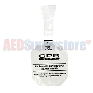 CPR Prompt® 100-pack Infant Lung Bags for Older CPR Prompt Manikins