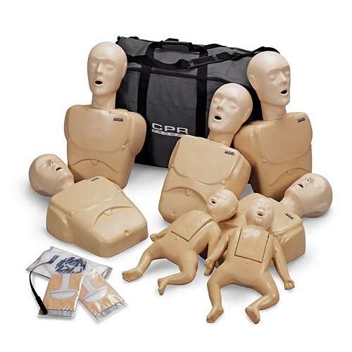 CPR Prompt® 7 Packs: 5-Adult/Child & 2-Infant Combo Pack TAN