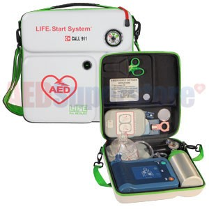 LIFE®StartSystem for Philps Heartstart FRx - AED Case and Empty Oxygen Cylinder