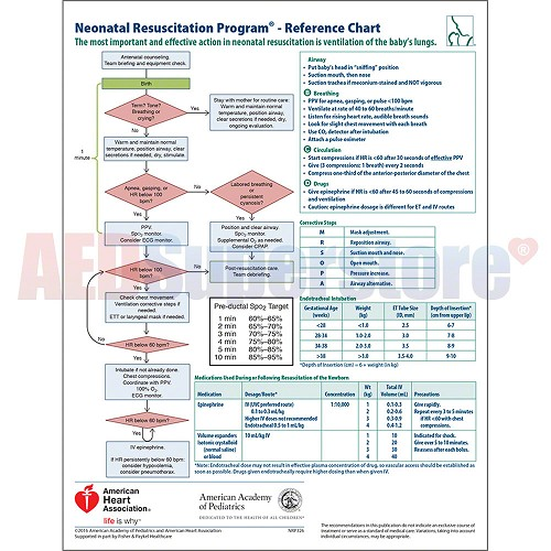 Neonatal Resuscitation Program® Code Cart Card