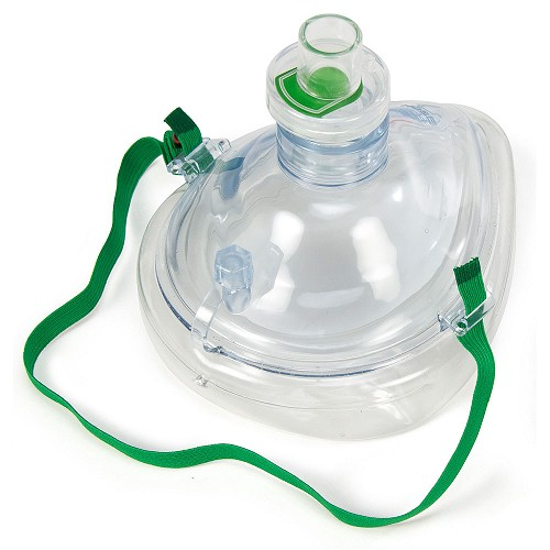 Adult CPR Mask w/One-Way Valve in Zip-Lok Bag by WNL